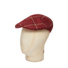 Rust & Cream Multi Check Wool, Silk & Cashmere Roma Cap