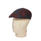 Brown & Orange Check Woollen Roma Cap