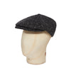 Black & Grey Heavyweight Herringbone Donegal Tweed Woollen Toni Cap