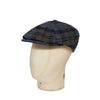 Blue & Grey Graded Check Woollen Toni Cap