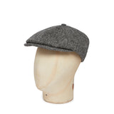 Black & White Hopsack Harris Tweed Woollen Toni Cap