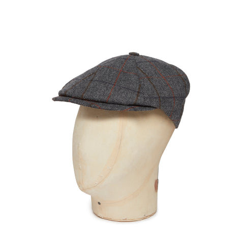 Brown & Orange Check Woollen Toni Cap