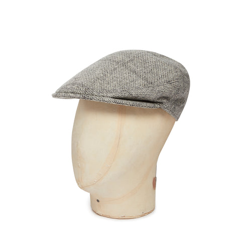 Beige & Brown Soft Check Made In England Woollen Flat Cap