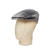 Grey & Black Cove Check Made In England Woollen Flat Cap
