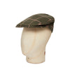 Moss With Cream Over Check Made In England Woollen Flat Cap