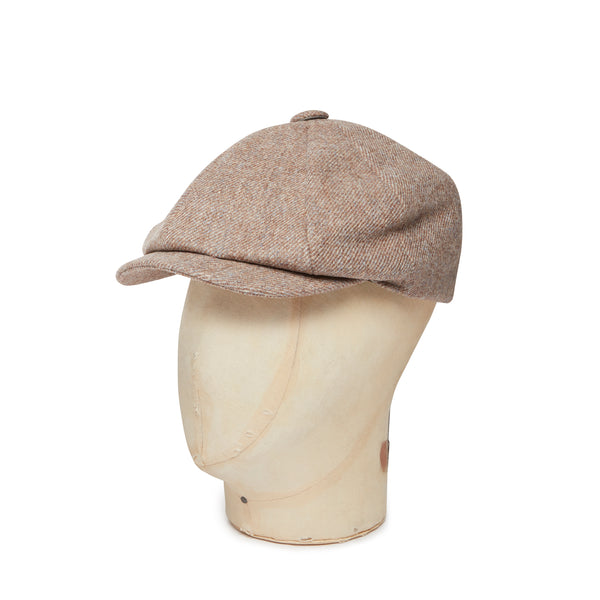 Pebble & Sky Plain Made In England Woollen Gatsby Cap
