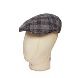 Grey, Wine & Navy Check Woollen Roma Cap