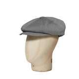 Blue & Grey Pin Dot Cotton Gatsby Cap