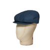 Plain Navy Waxed Cotton Gatsby Cap