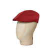 Plain Chili Red Cotton Roma Cap