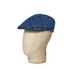 Blue Windowpane Check Cotton & Linen Roma Cap