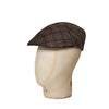 Brown Windowpane Check Cotton & Linen Roma Cap