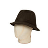 Plain Brown Woolen Down Hat