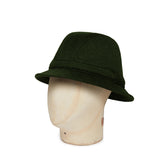 Dark Green Woolen Down Hat