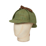 Green With Green & Wine Overcheck Woolen Deerstalker