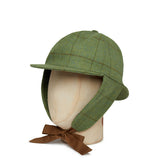 Green With Brown Overcheck Woolen Deerstalker