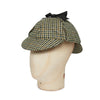 Cream Houndstooth With Gold Overcheck Woolen Deerstalker