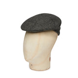 Boys Made In England Cashmere Cap In Grey With Black Overcheck