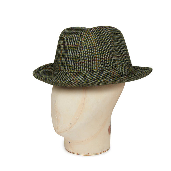 Cream With Green & Gold Houndstooth Check Woolen Shropshire