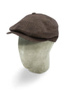 Brown Linen 8-Piece Cap