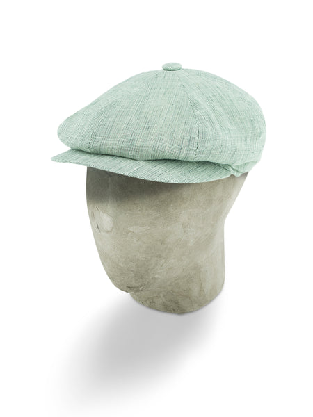 Grey Linen 8-Piece Cap