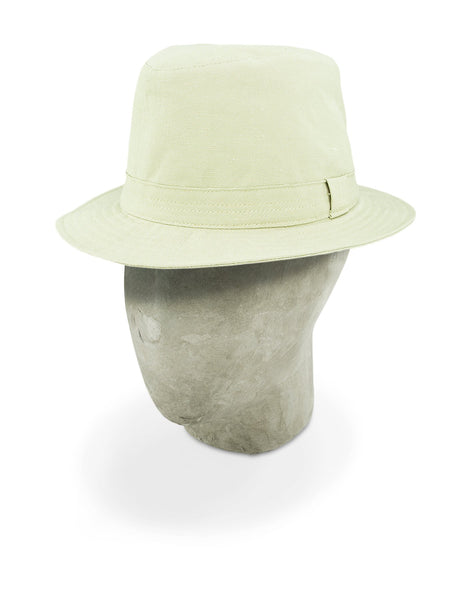 Beige Cotton Bucket Hat