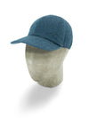 Blue Green Herringbone Wool Baseball Cap
