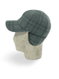 Grey Wool Baseball Cap