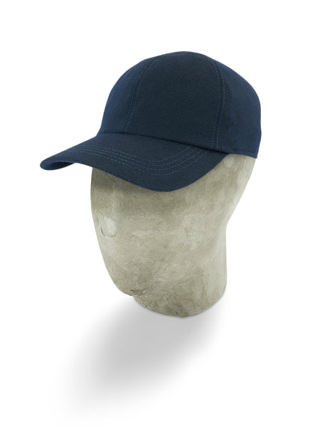 Blue Wool Baseball Cap