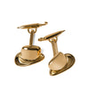 Gold Plated Bowler Hat & Umbrella Cufflinks