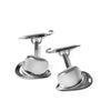 Silver Bowler Hat & Umbrella Cufflinks