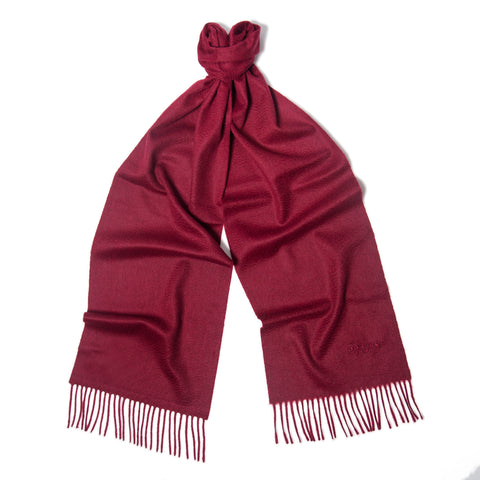Claret Red Cashmere Scarf