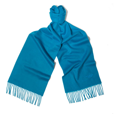 Kingfisher Blue Cashmere Scarf