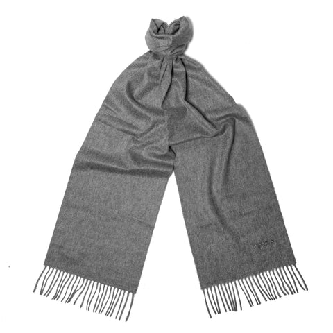 Mid Grey Cashmere Scarf
