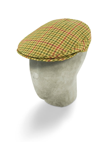 Cream Twill Wool Flat Cap