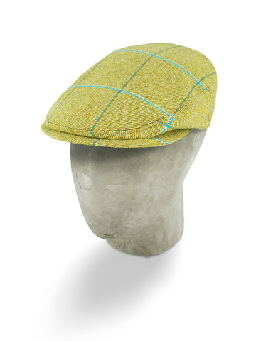 Yellow Twill Wool Flat Cap