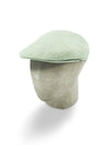 Light Green Cotton Flat Cap
