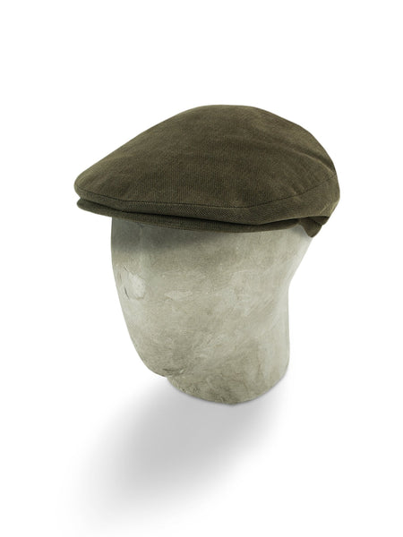 Chocolate Brown Cotton Flat Cap