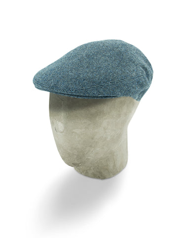 Grey Twill Wool/Cashmere Mix Flat Cap