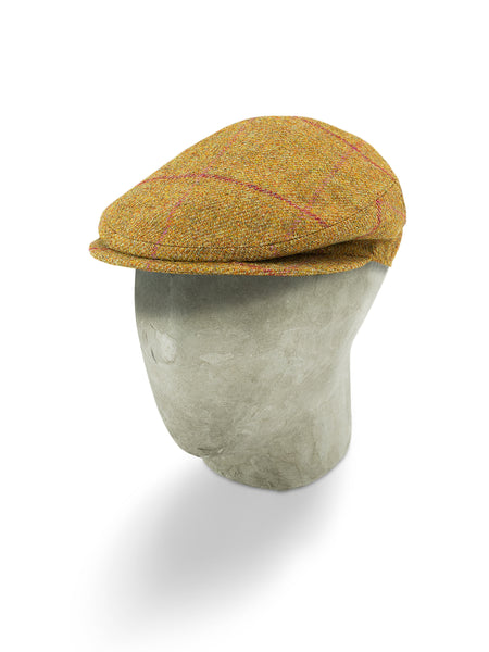 Brown Twill Wool Flat Cap