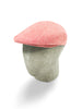 Red & White Linen Flat Cap