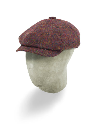 Red Wool Gatsby Cap