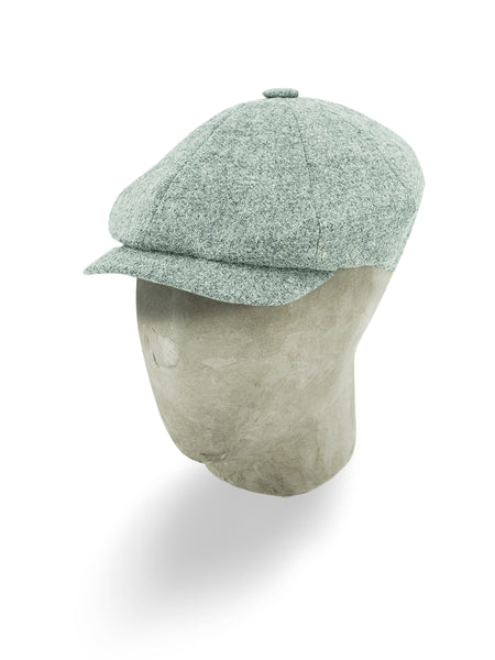 Grey Wool Gatsby Cap