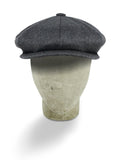 Plain Light Grey Woollen Loden Gatsby Cap