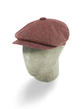 Red Twill Wool/Cashmere Mix Gatsby Cap
