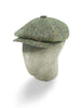 Cream Herringbone Wool/Polyester Mix Gatsby Cap
