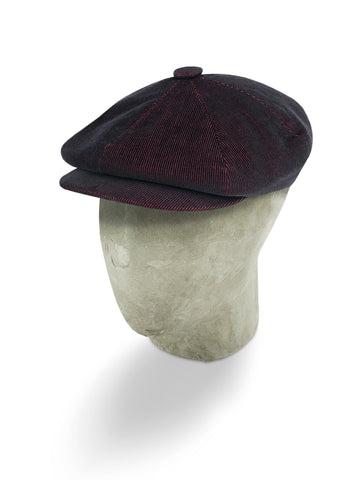 Burgundy Corduroy Cotton Gatsby Cap