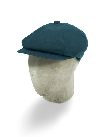 Blue Oxford Cotton Gatsby Cap