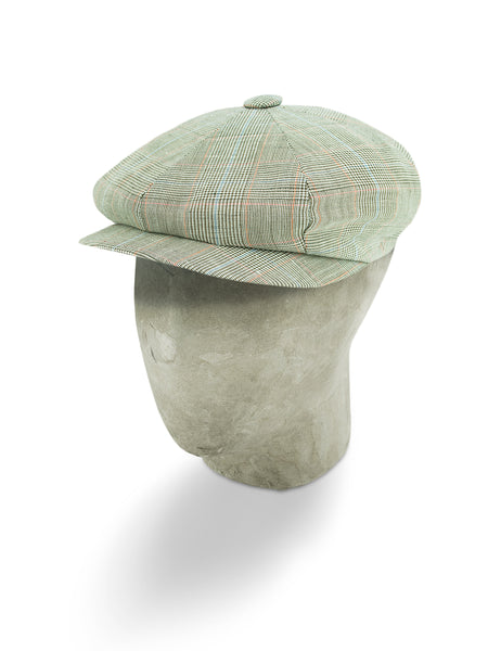 Brown Polyester/Cotton/Linen Mix Gatsby Cap
