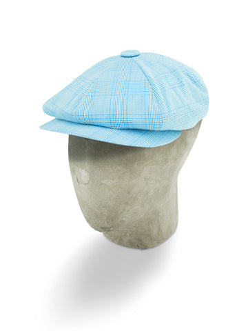 Blue Cotton/Polyester Mix Gatsby Cap